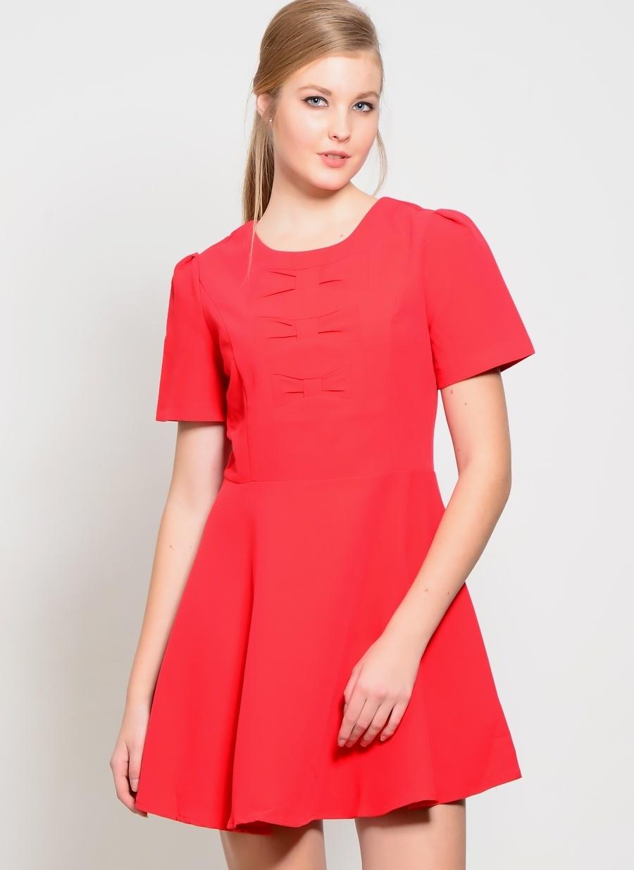 Kadın Pepaloves Kısa Kollu Mini Kloş Elbise